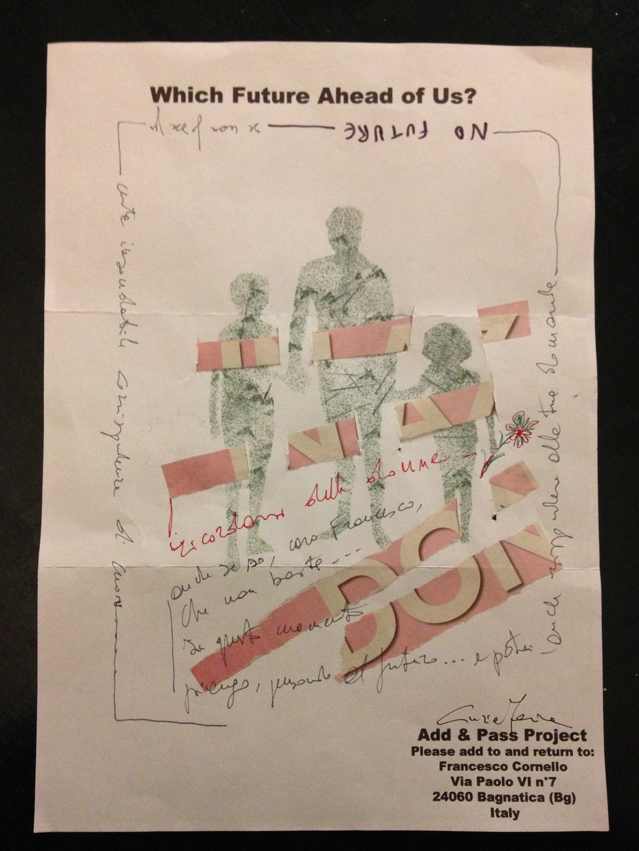 """Cinzia Farina - """"No Future"""", for """"Wich Future Ahead of Us"""", Add & Pass project of Francesco Cornello"""