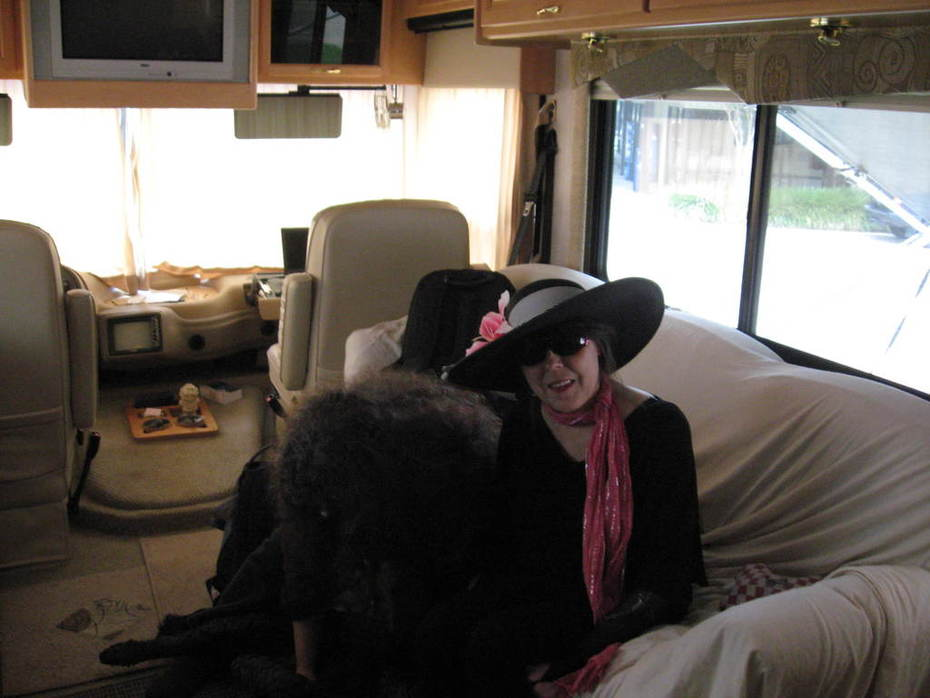 Pru in RV with WS and Happy