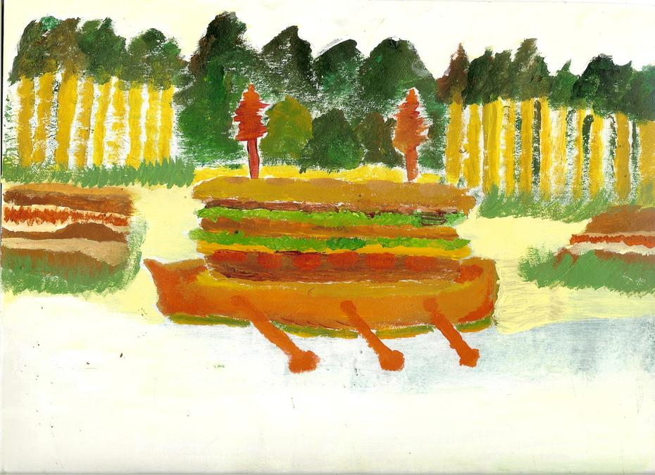 cheesburger boat
