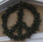 Peace sign at Christmas