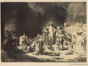 Rembrandt - Jesus - Hundred Guilder Print