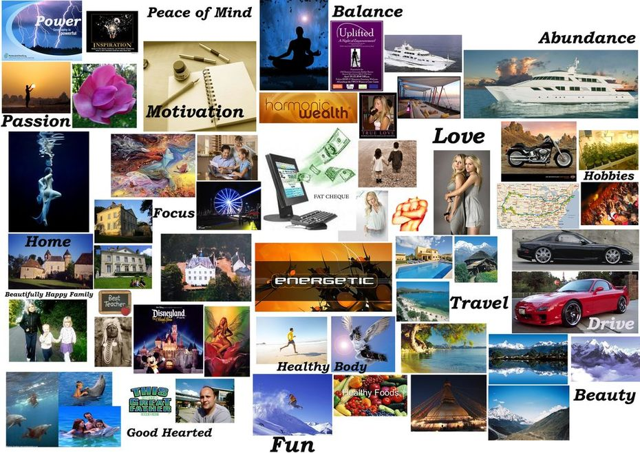 My First Vision Board - Life & Destiny