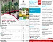 Máster en BIOLOGÍA VEGETAL APLICADA Universidad Complutense (Madrid, España)