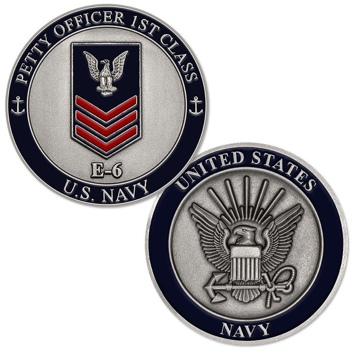 Petty Oficer First Class Challenge coin