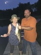 Laura's first big catfish!