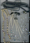 Antique Beaded Necklaces (3)