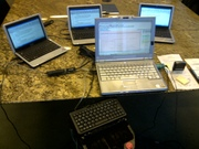 Jeanese Johnson with {3} loaner laptop setup!