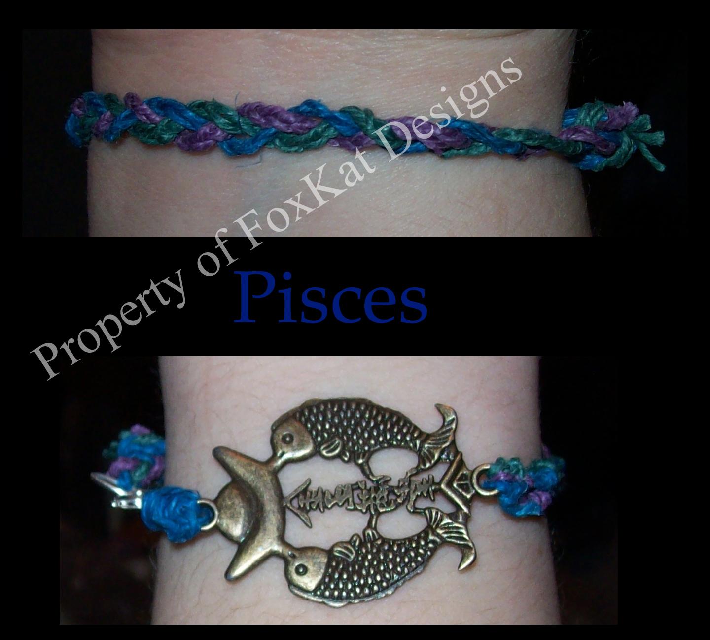 Pisces hemp bracelet
