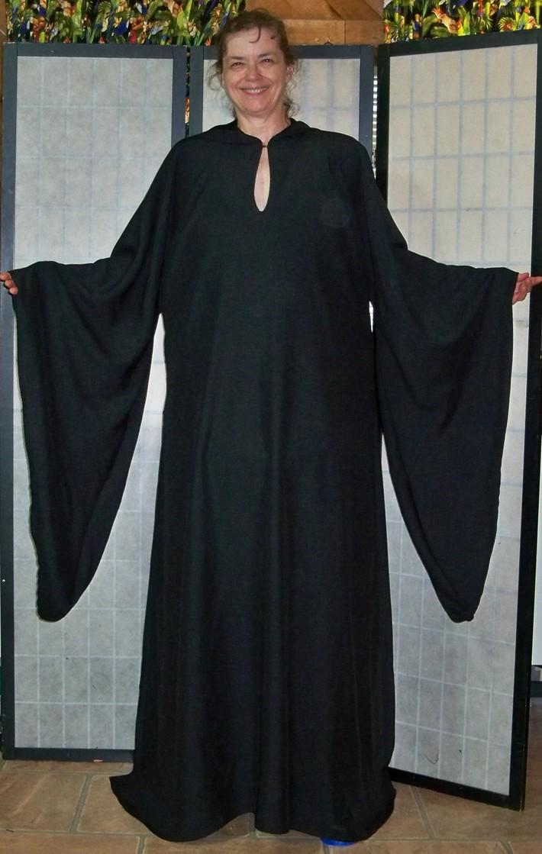 Black Bengaline 3X Robe Front