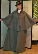 Gray Wool  Inverness Cape