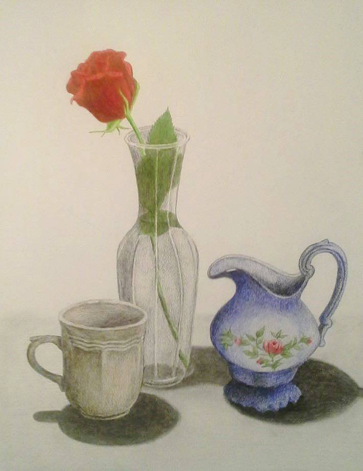Still Life with Red Rose (2015)