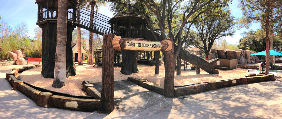 playground entrance and sitting wall