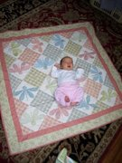 abigail on quilt