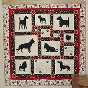 dog quilt finished