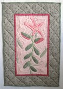 Lily - marbled fabric with applique'