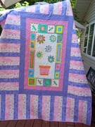 Flower Power  little girl quilt