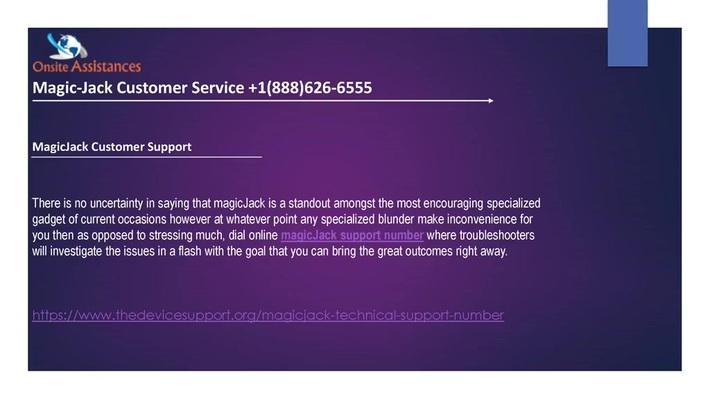 magicjack customer service +1(888)626-6555 Magicjack support