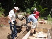 Organiponico being built