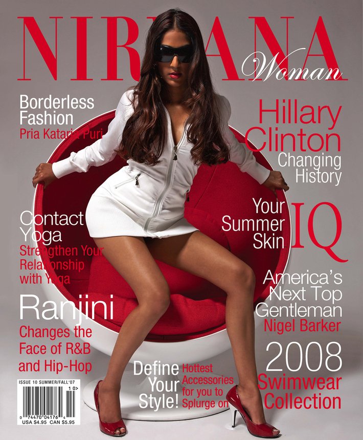 Ranjini on the Cover of NIRVANA