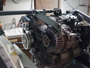 Alternator, top-right view