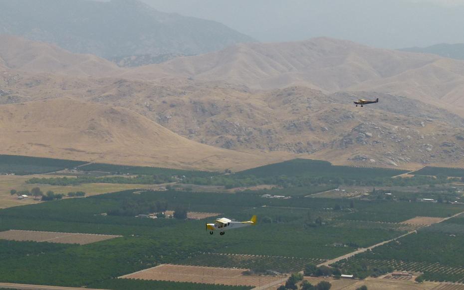 Two STOL CH 750s near Visalia California