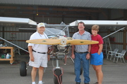 Val, Steve, and me with plane outside for first time!