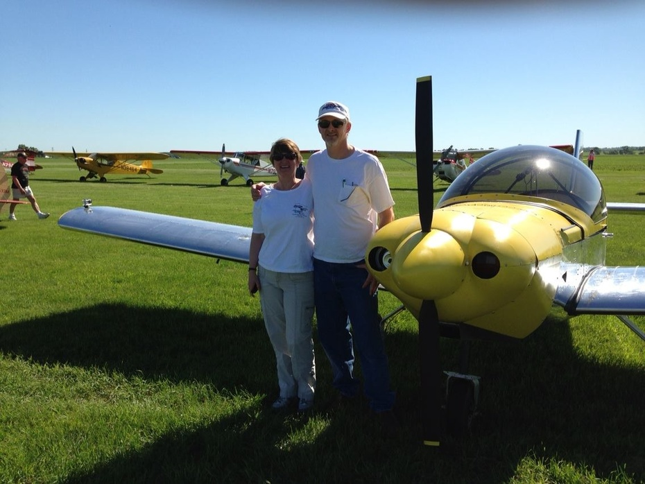 Mary & Pat at Stanton Airfield