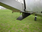 Protective tail skid + tie down ring