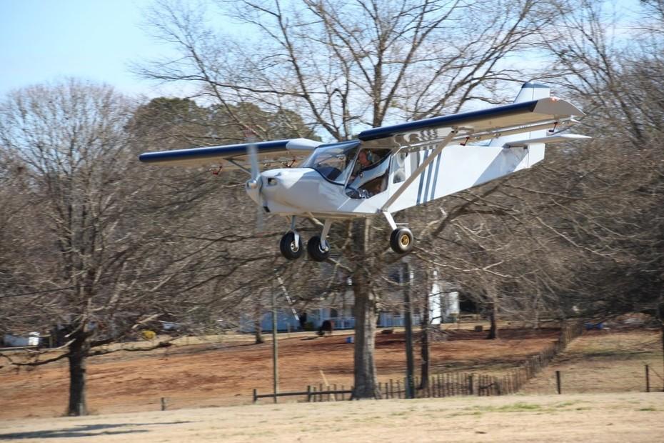 Landing at Alexander Memorial