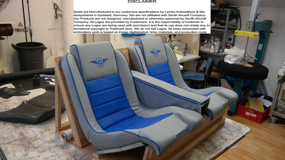 Zodiac 601 650 Interior Dual Stick Light Grey Kings Blue 1
