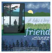An Old friend - Scrapbook page