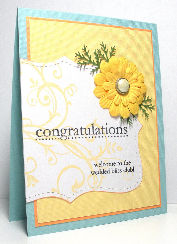 Clean and Simple Wedding Card