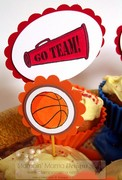 Sporty Cupcake Toppers