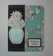 Dimensional Flower Vase Card