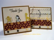 Wild Animal Thank You Note Cards
