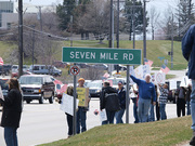 Protest at Livonia/Northville