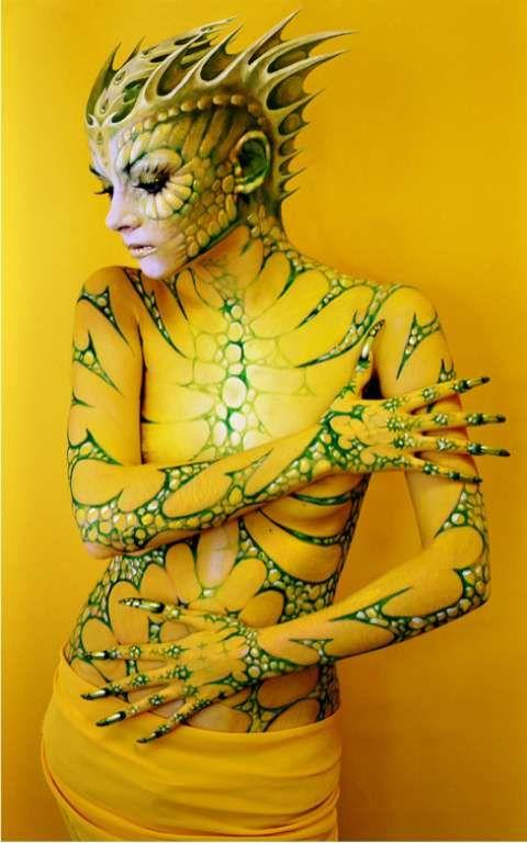 人體彩繪黃系列02