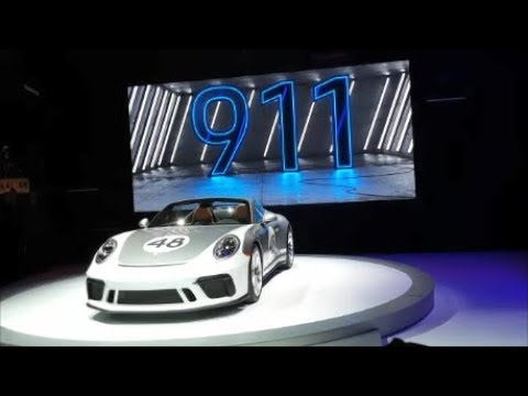 Unveiling Of the Porsche 911 Speedster Heritage At the 2019 New York International Auto Show