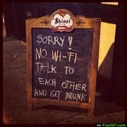 Sorry..No-Wi-Fi