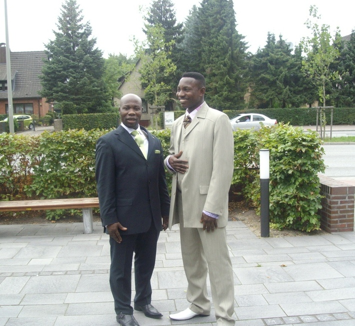 After Church service in Hamburg, Germany.