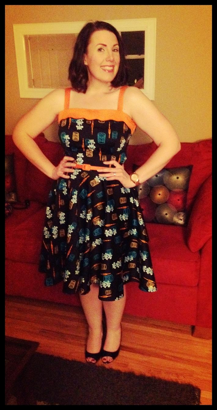 Netti Dress in Tiki Print L