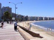 Pocitos - Montevideo, bajada desde mi casa a la playa.