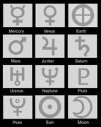 SImbolos+planetas