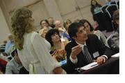 Haciendo una consulta en Congreso Astrologia Barcelona, sobre el sistema LUPO.