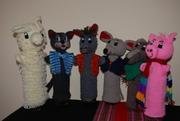 Gruppenbild der Handpuppen