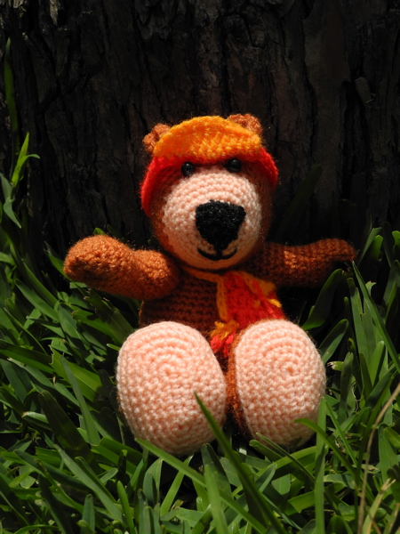 Bär, gehäkelt