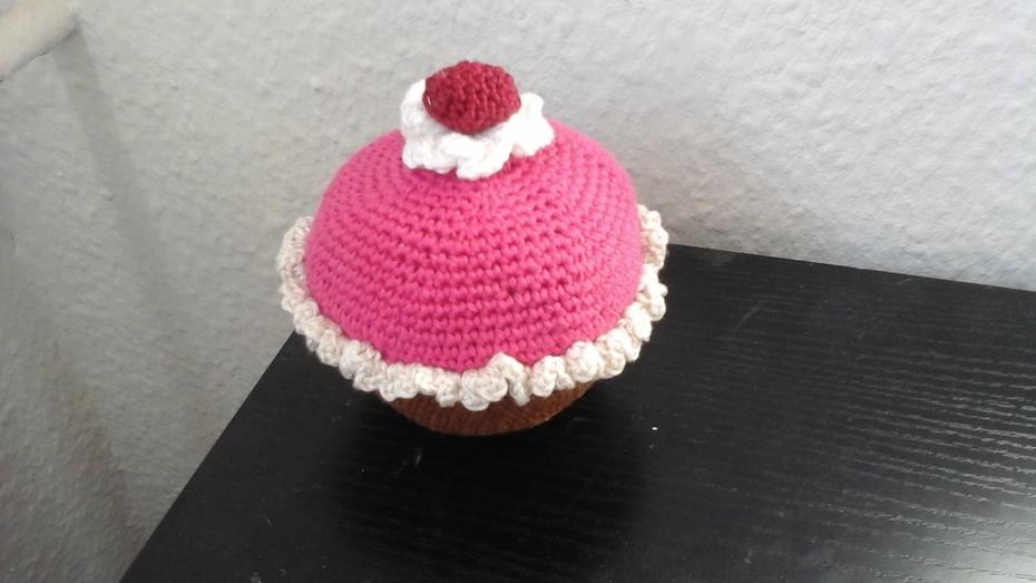 Nadelkissen Himbeer-Muffin