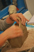 slab building with clay