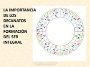 IMPORTANCIA DE LOS DECANATOS ASTROLOGICOS EN LA FORMACIÓN DEL SER INTEGRAL