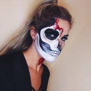 Melting Burnt Skull  'Glam Express 2017 Halloween Contest Entry.'